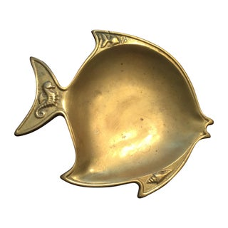 Heavy Brass Fish Catchall