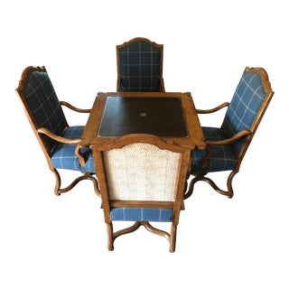Minton-Spidell Game Table & Dauphine Chairs - Set of 5