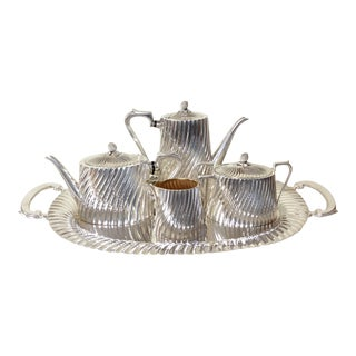 Vintage Silver Plate Coffee/Tea Service Set - 5 Pieces