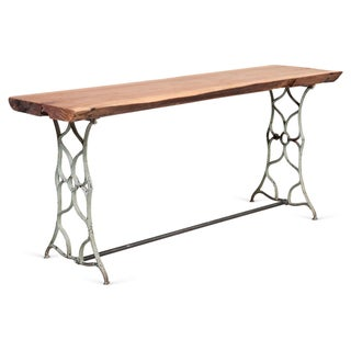 Cast Iron Table with Wooden Top