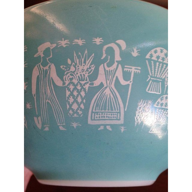 Image of Amish Butterprint Teal Cinderella Pyrex Set