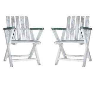 Pair of Handmade, 1940s Modern Wood Lounge Chairs