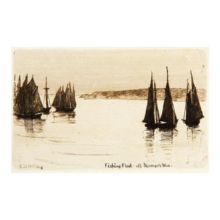 Tiny Massachusetts Harbor Etching
