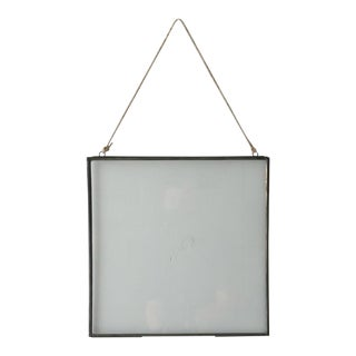 Double Sided Glass Metal Frame