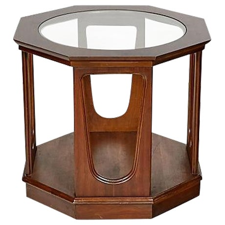 1960s Glass Top Octagon Side Table - Image 1 of 5