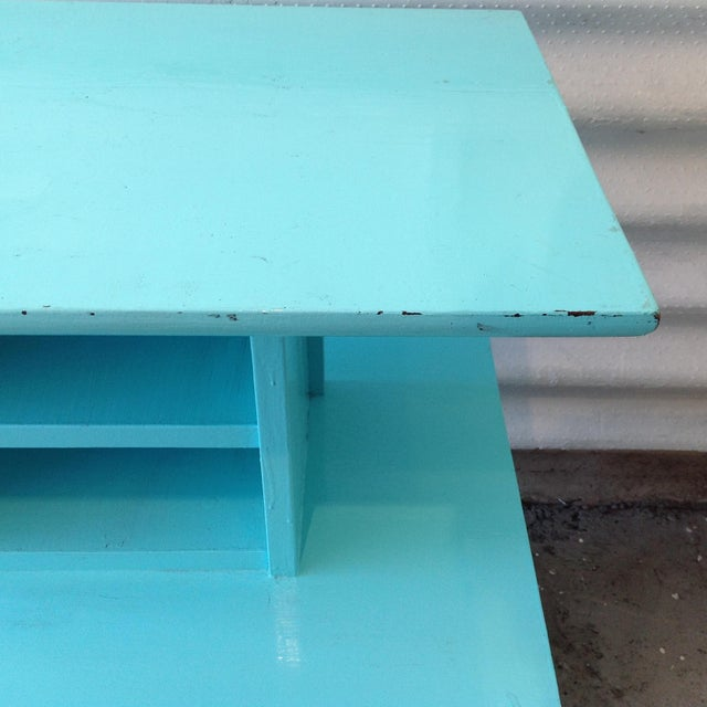 Mid-Century High Gloss Chalk Painted Cart - Image 10 of 11