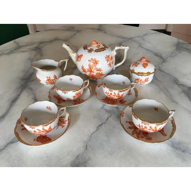 Herend Fortuna Pattern Tea Set - Set of 7 - Image 5 of 11