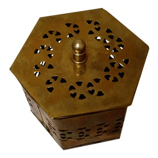 Solid Brass Cricket Box