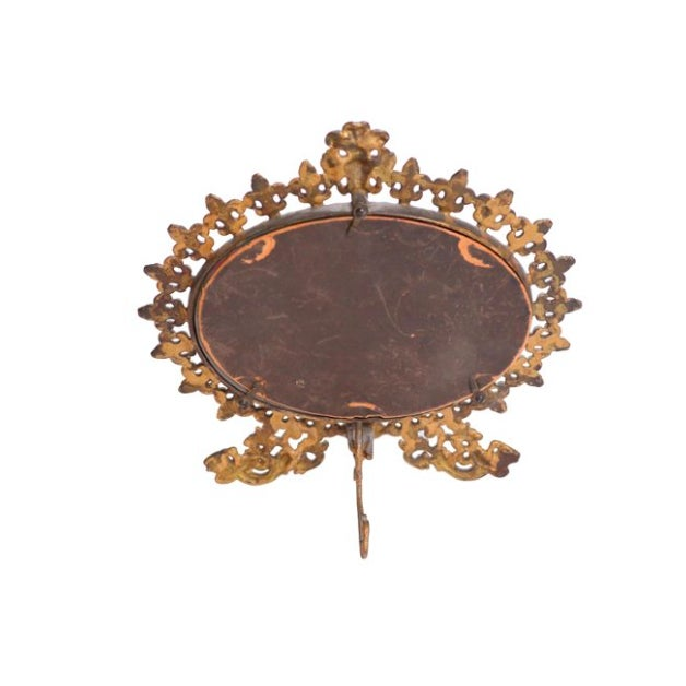French Fleur-De-Lis Mirror & Stand - Image 3 of 3