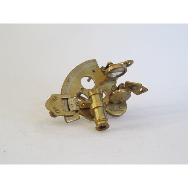 Brass Sailor's Sextant, Navigation Device - Image 3 of 9