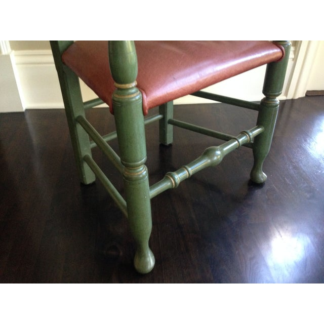English Walnut Ladder Back Chairs - Set of 6 - Image 4 of 6
