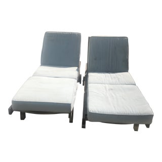Outdoor Teak Chaises - A Pair