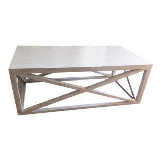 Tritter Feefer Madam White Washed Coffee Table