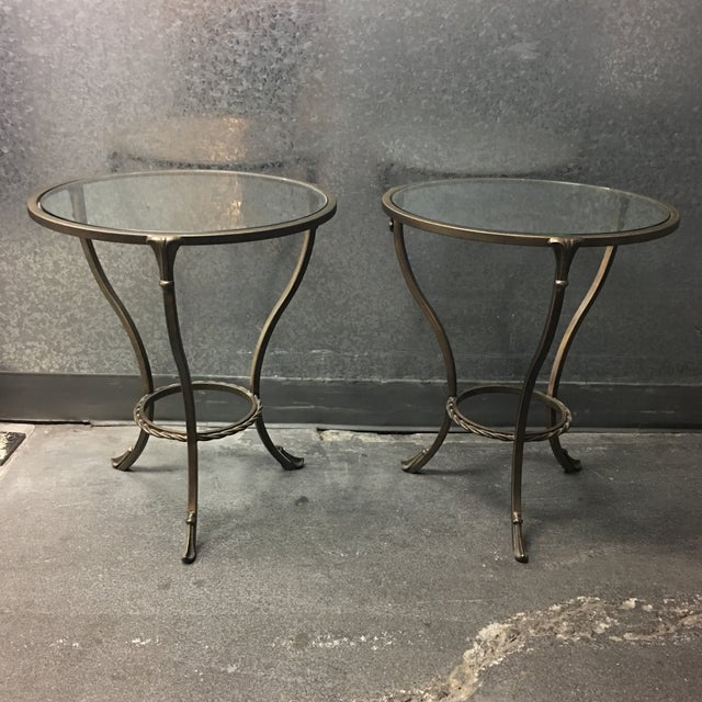 Kolkka Metal & Glass Side Tables - A Pair - Image 2 of 7
