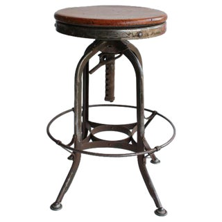 Vintage American Industrial Toledo Swivel stools, 2 available