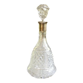 Cut Glass and Silver Decanter