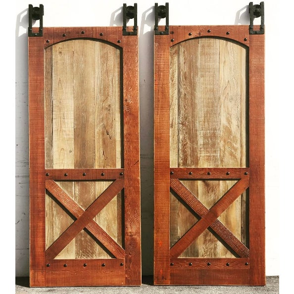 X Style Reclaimed Wood Barn Door Chairish