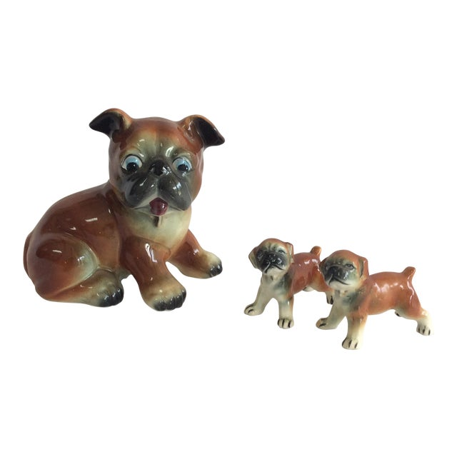 Mid-Century Ceramic Dogs - Set of 3 - Image 1 of 8