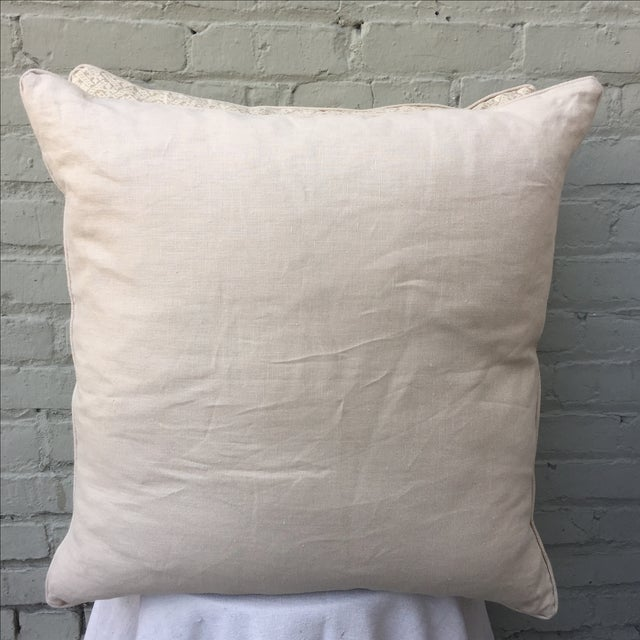 Rose Tarlow Printed Linen Pillows - A Pair - Image 5 of 5