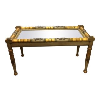 Federal Style Mirror Top Coffee Table