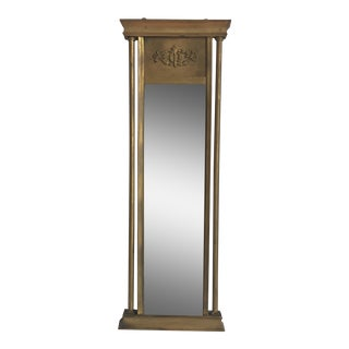 Small Vertical Metal Mirror