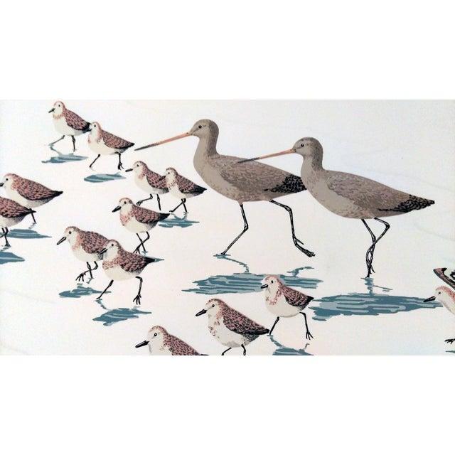 "Frank Logan ""Chasing Waves"" Shore Birds Serigraph - Image 5 of 9"