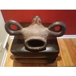 Image of African Buffalo Head Artwork Mask