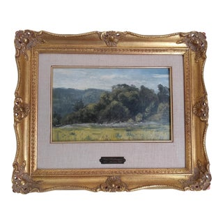 1860s Karl Heilmeyer German Landscape Oil Painting