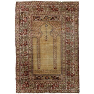 "Hand Knotted Antique Turkish Qaisary Rug - 5'6"" X 3'11"""