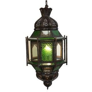 Moroccan Glass & Iron Lantern