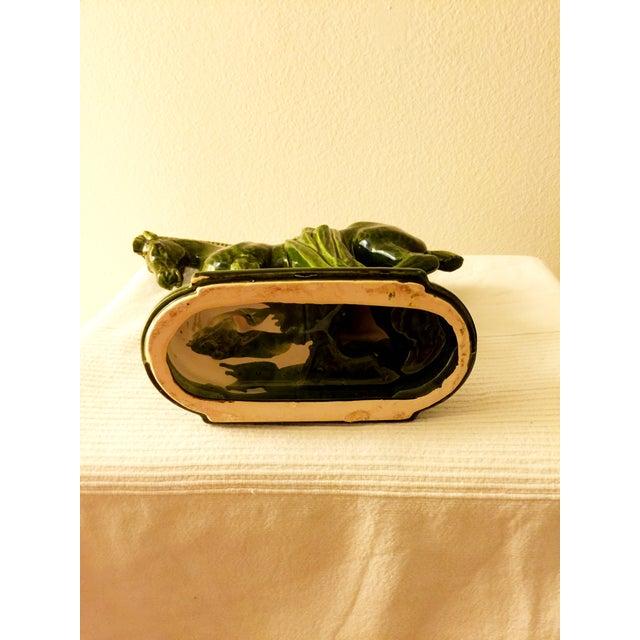 Large Green Porcelain Trojan Horse Figurine - Image 4 of 5
