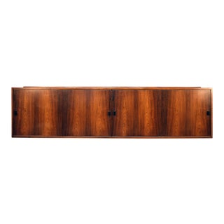 Mid-Century Rosewood Floating Wall-Mount Credenza
