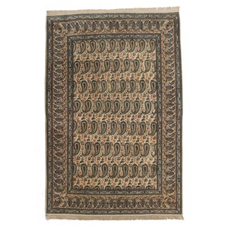 RugsinDallas Vintage Persian Kashan Rug - 4′9″ × 7′