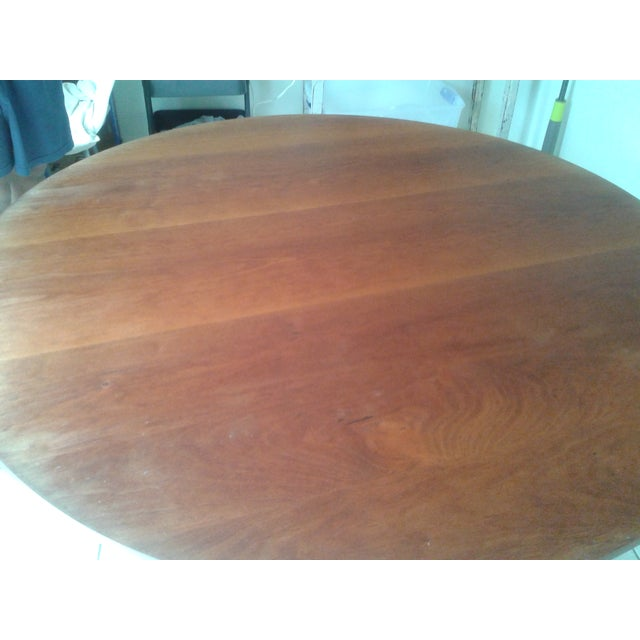 Thos Moser Round Dining Table - Image 3 of 10