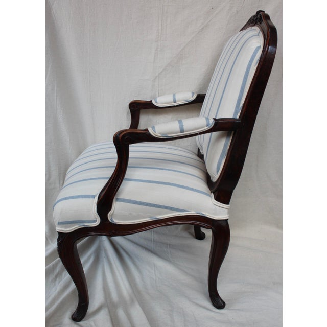 Antique Louis XV Style Fauteuil Chair - Image 7 of 9
