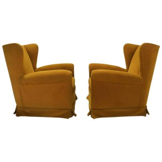 Italian Wing Back Lounge Chairs