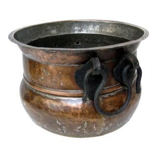 Vintage Copper & Iron Pot