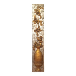 Vintage Gold & Silver Hanging Wall Sculpture