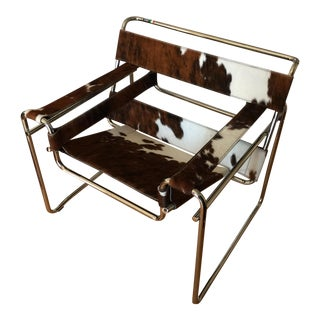 Steel Line Italian Cowhide Wassily Style Chair