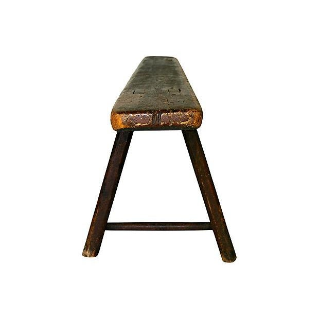 Antique Wood Bench - Image 3 of 3