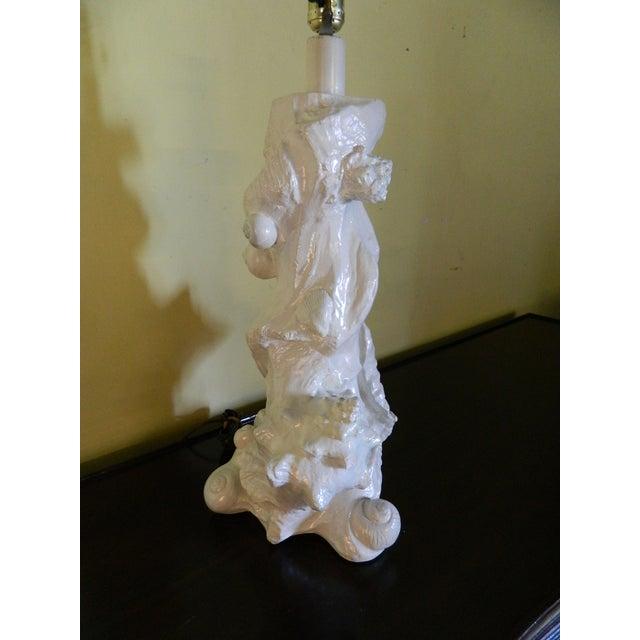 Image of Vintage Sirmos Seashell Lamp