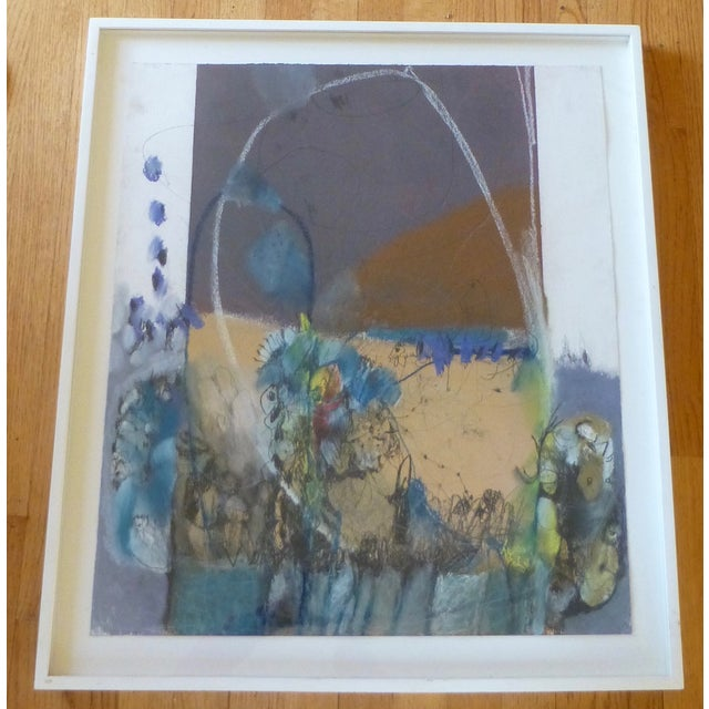 Large Abstract Mid-Century Painting - Image 2 of 11