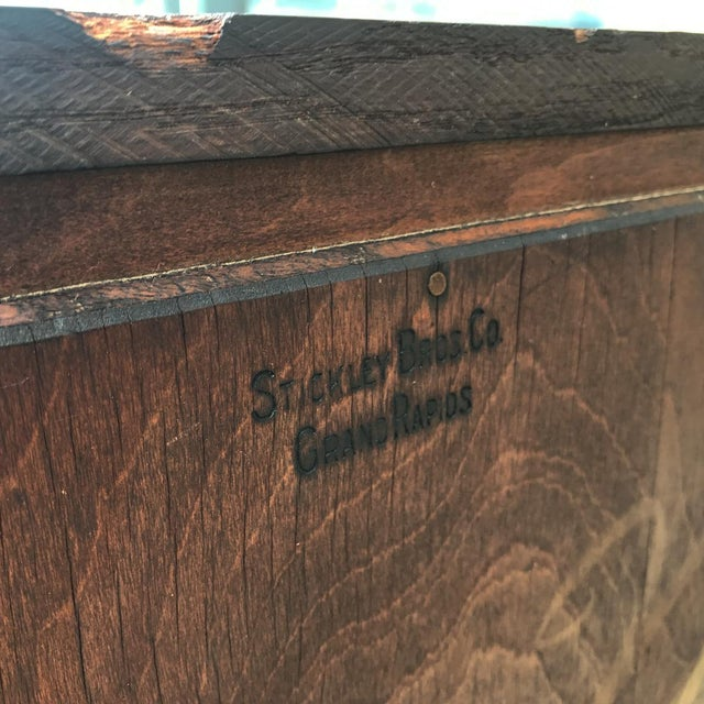 Antique Signed Stickley Brothers Mission Arts & Crafts Buffet Server  Sideboard - Image 2 of 10 - Antique Signed Stickley Brothers Mission Arts & Crafts Buffet