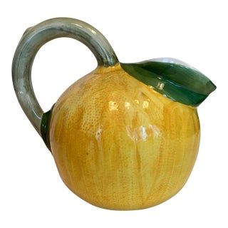 Ceramic Lemon Shaped Pitcher