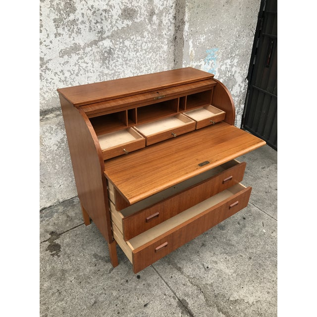 Teak Danish Modern Desk - Image 3 of 4