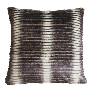 "Piper Collection Faux Fur ""Smokey"" Pillow"