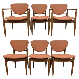 Finn Juhl Style Dining Chairs - Set of 6