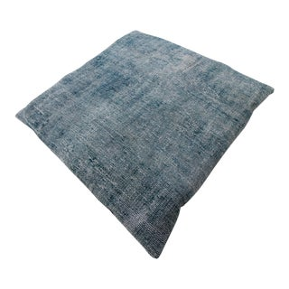 Vintage Turkish Overdyed Floor Pillow & Dog Bed 36'' x 36''