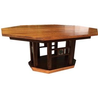Alan Kaniarz Hexagonal Oak Dining Table
