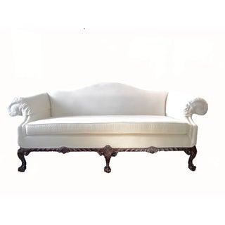 Mahogany Chippendale Camelback Sofa